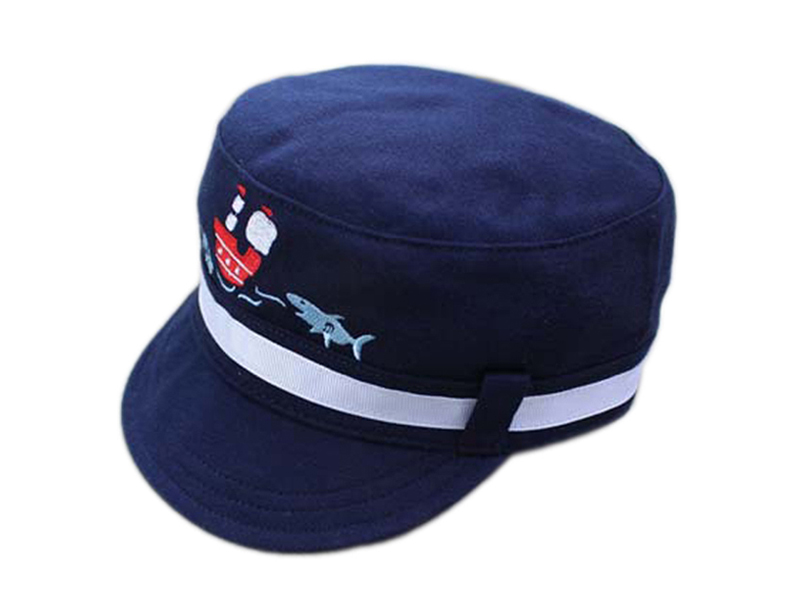 勇发服饰-儿童军帽 平顶帽定做-RM025