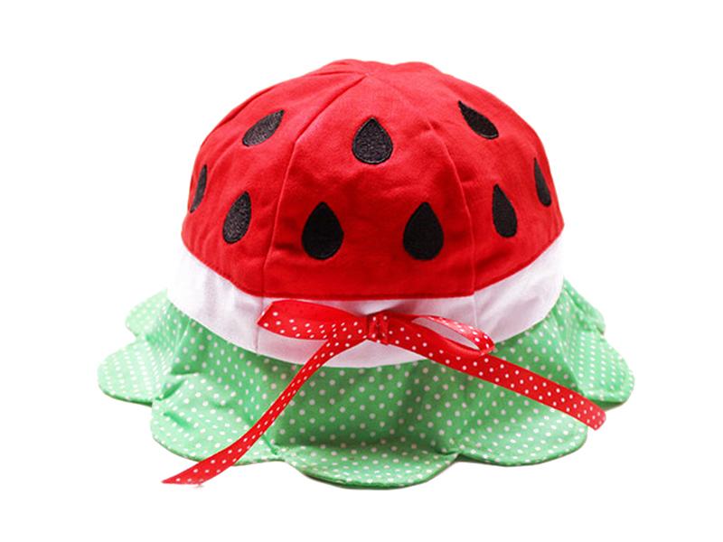 勇发服饰-可爱水果西瓜太阳帽儿童定做-RM031