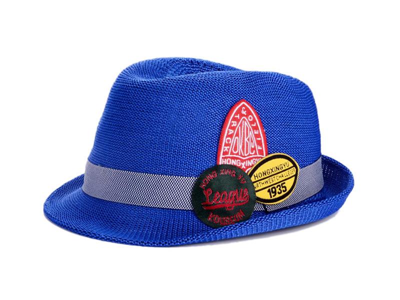 勇发服饰-2015新款儿童定型礼帽 草帽定做-RZ088