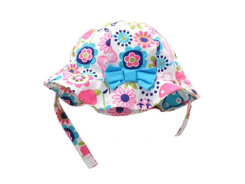 勇发服饰-儿童蝴蝶结遮阳帽 边帽定做-RM091