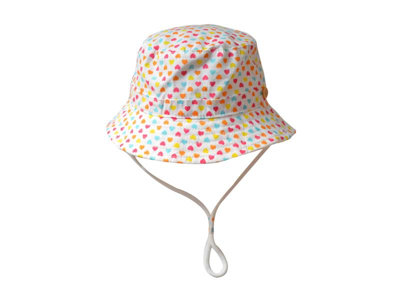 勇发服饰-儿童春夏简约心形户外遮阳渔夫桶帽订制-RM264