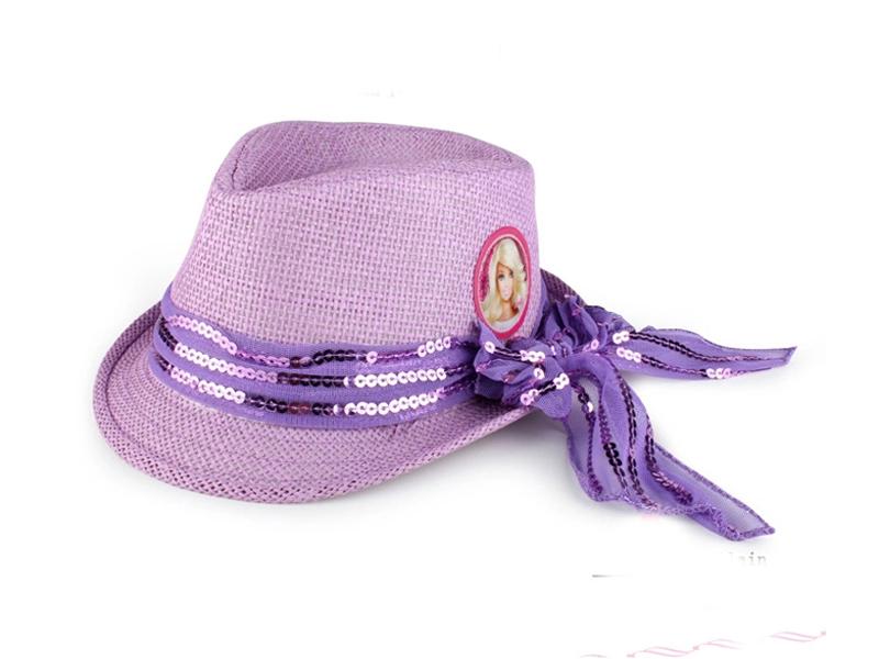 勇发服饰-新款时尚潮流蕾丝蝴蝶结草编儿童定型礼帽 芭比娃娃-RM351