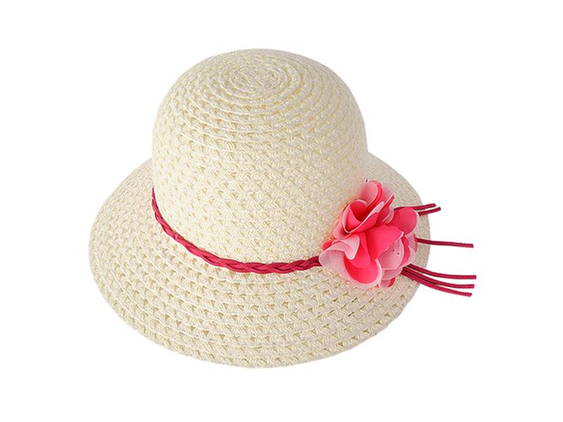 勇发服饰-小清新款小辫子装饰花朵儿童时装草帽广州订制定做-RZ356