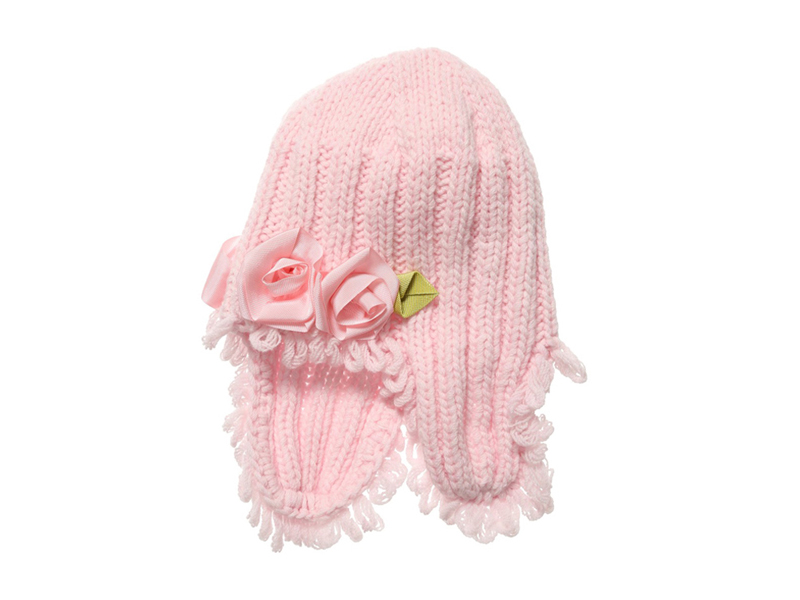 勇发服饰-冬天护耳保暖玫瑰花儿童针织帽 订做 12年诚信通 -RM317