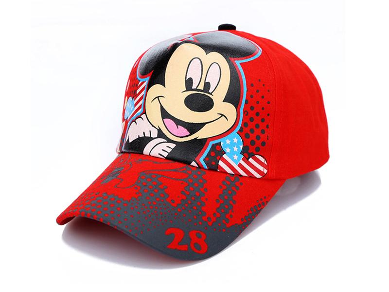 勇发服饰-儿童春夏米老鼠可爱遮阳棒球帽 外贸出口定做 印花-RM344