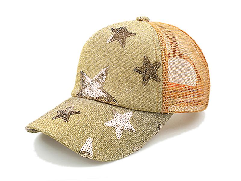 勇发服饰-2015春夏新款炫彩星星网布透气五页棒球网帽 鸭舌帽-RM153