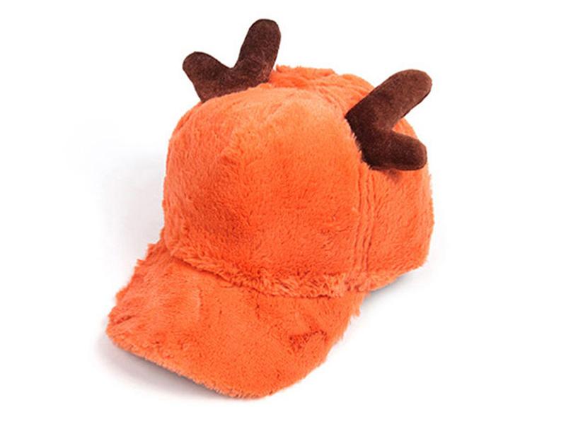 勇发服饰-毛毛鹿角棒球帽冬款定做RH066