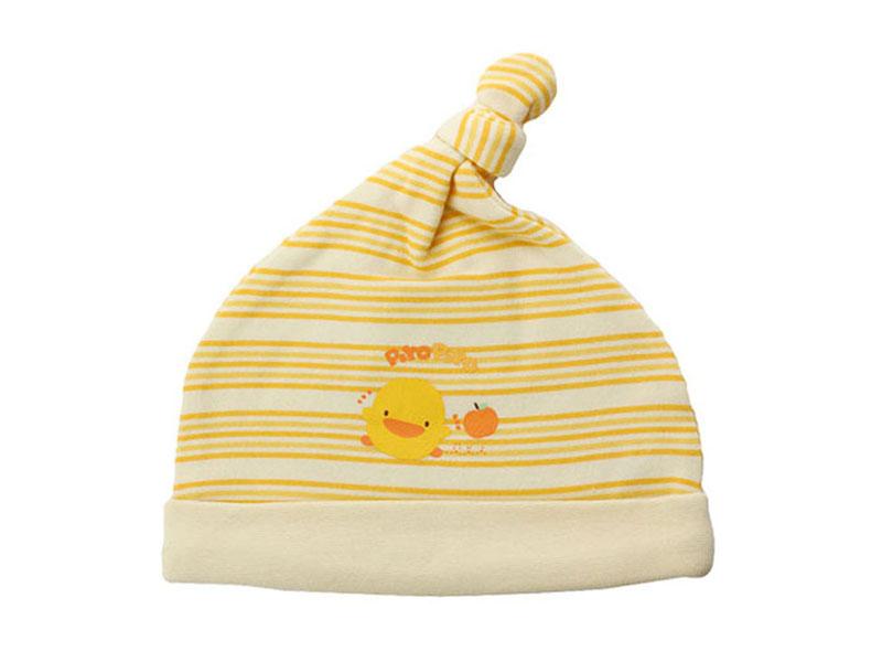 勇发服饰-尖顶条纹婴儿套头套头帽专业加工订制AM091