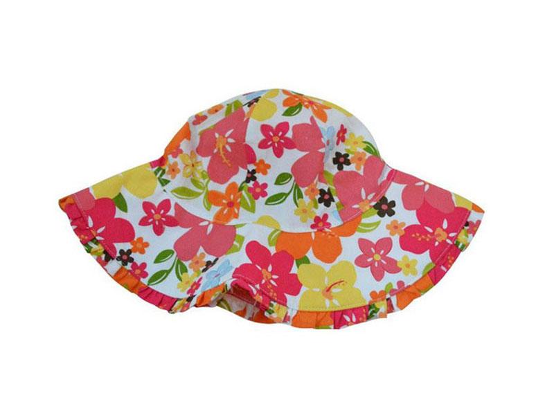 勇发服饰-儿童印花花朵遮阳帽子RM518
