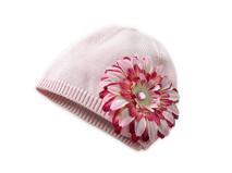 勇发帽业-儿童花朵针织帽BC1-009