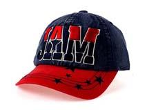 勇发服饰-撞色拼接牛仔布棒球帽定做-BM065