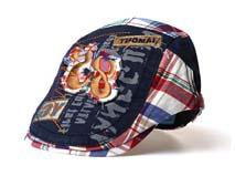 勇发服饰-复古英伦 水洗做旧儿童鸭舌帽订做-EM028
