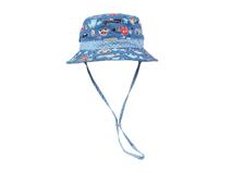 勇发服饰-儿童户外防嗮遮阳印花小水桶帽定做-RM015