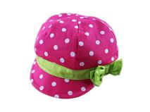 勇发服饰-女童时尚粉红点点瓜帽 -RT020