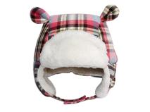 勇发服饰-儿童格子耳朵可爱雷锋帽定做-RM022