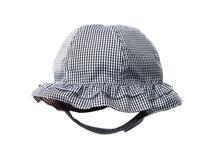 勇发服饰-儿童折边格子遮阳帽定做-RM024