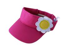 勇发服饰-女童雏菊粉红空顶帽定做 -RM026