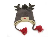 勇发服饰-儿童冬天鹿角可爱针织帽定做-RM028