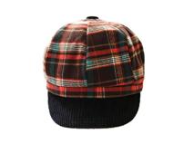 勇发服饰-儿童时尚格子棒球帽定做-EW052