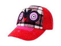 勇发服饰-儿童卡通绣花格子棒球帽定做-RM056