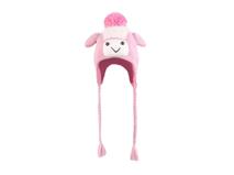 勇发服饰-儿童卡通毛毛球护耳针织帽定做-RM060