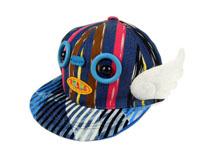勇发服饰-卡通翅膀儿童平板帽定做-RM062