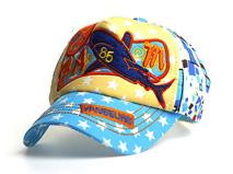 勇发服饰-儿童星星撞色拼接棒球帽 小清新款定做-RM080