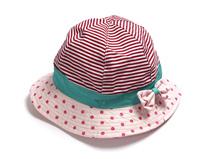 勇发服饰-女童条纹撞色拼接渔夫帽定做-RM089