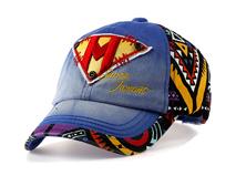 勇发服饰-新款撞色拼接贴布绣印花六页遮阳棒球帽定做 -BM073