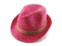 勇发服饰-春夏新款混色点点沙滩遮阳定型草帽定做-CZ071