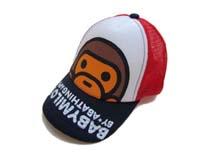 勇发服饰-儿童卡通猴子棒球帽 网帽定做-RM109