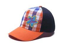 勇发服饰-儿童星星撞色拼接格子棒球帽定做 -RM170