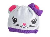 勇发服饰-可爱猫咪 针织套头帽定做-RM172