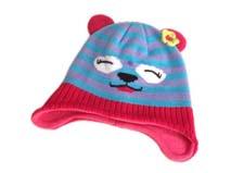 勇发服饰-儿童小熊条纹针织帽定做-RM176