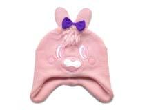 勇发服饰-儿童小兔子蝴蝶结可爱针织帽定做-RM178