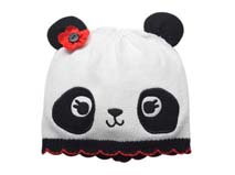 勇发服饰-儿童熊猫针织帽定做 -RM181