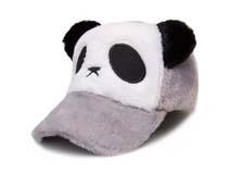 勇发服饰-儿童冬天保暖熊猫棒球帽定做-RH185