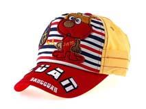 勇发服饰-新款儿童条纹卡通动物棒球帽定做 -RM189