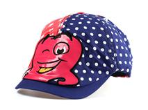 勇发服饰-卡通点点拼接鸭舌帽儿童订做-RM201