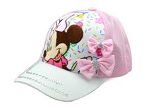 勇发服饰-水晶米老鼠拼接可爱棒球网帽定做-RM222