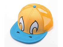 勇发服饰-撞色拼接儿童平板帽 网帽 -RM228