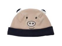 勇发服饰-儿童撞色拼接卡通小熊保暖套头帽定做-RM235