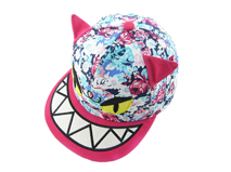 勇发服饰-儿童撞色拼接印花卡通动物棒球帽定做-RM238