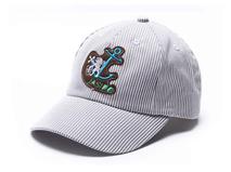 勇发服饰-儿童简约条纹贴布绣六页棒球鸭舌帽订做-RM250
