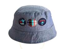 勇发服饰-儿童纯棉贴布绣两用遮阳边帽订做订制 -RM251