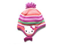 勇发服饰-儿童hello Kitty可爱条纹秋冬护耳保暖针织帽 毛线帽订做-RM261