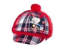 勇发服饰-儿童 婴儿米老鼠时尚格子拼接冬天保暖棒球帽 鸭舌帽定制-RM263