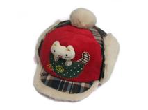 勇发服饰-儿童 婴儿冬天时尚格子绣花保暖棒球帽 鸭舌帽订做-RM265