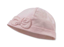 勇发服饰-儿童 婴儿纯色蝴蝶结全棉简约套头帽 小清新款定制-RM274