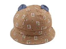 勇发服饰-儿童小耳朵印花遮阳桶帽 春夏外贸出口订做-RM284